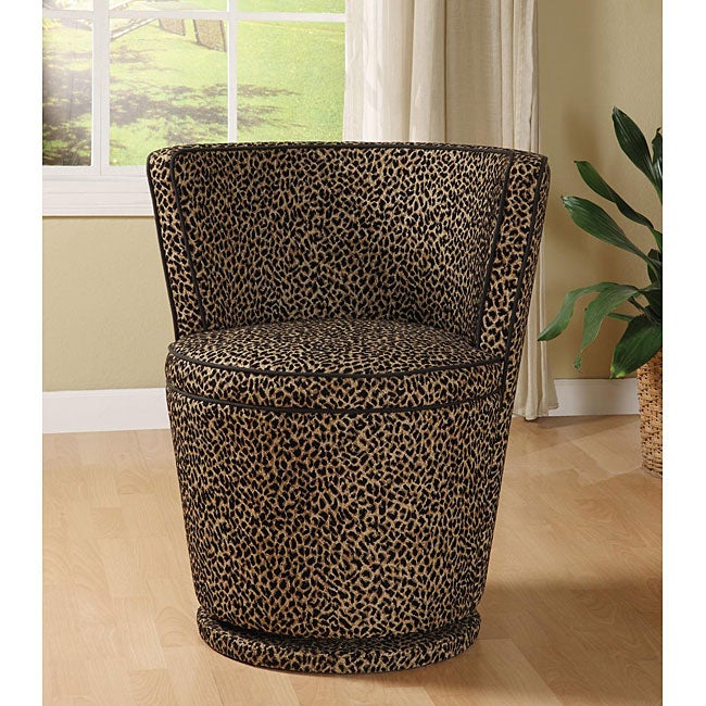 Carousel Leopard Print Swivel Chair Free Shipping Today