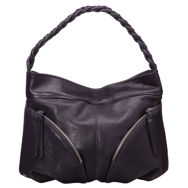 Presa 'Cordoba' Braided Handle Leather Hobo-style Bag