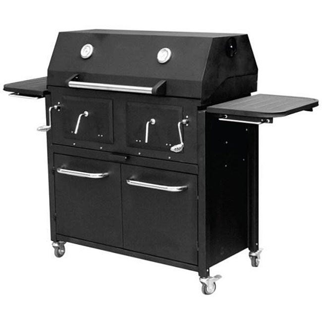 Shop Rankam Big Boss Twin Chamber Charcoal Grill Free Shipping Today Overstock 4125789