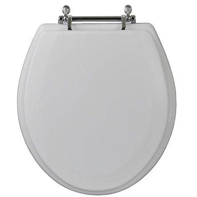 Shop Magnolia Round Wood Toilet Seat With Chrome Hinge Free