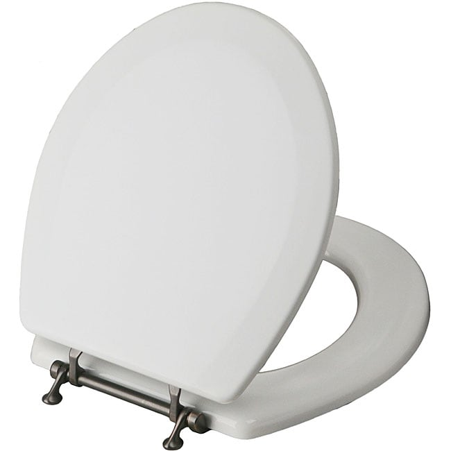 Magnolia Elongated Wood Toilet Seat With Bronze Plated