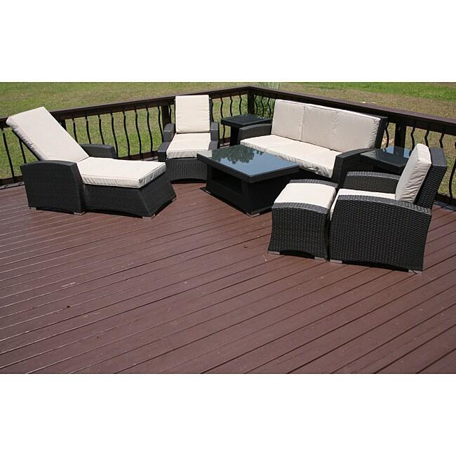 santiago 9piece allweather patio furniture set - Overstock Patio Furniture