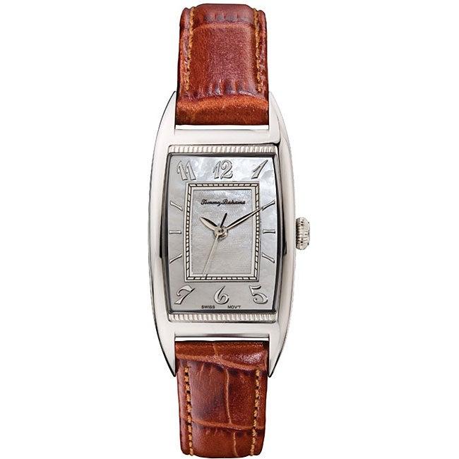 Tommy Bahama Women S Sanibel Brown Leather Strap Watch