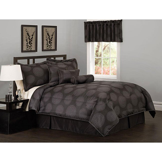 Circle Dot 7-piece Jacquard Comforter Set