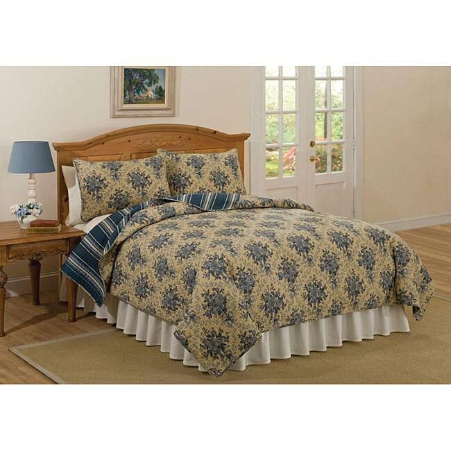 Dartmouth Court Cotton 3-piece Quilt Set