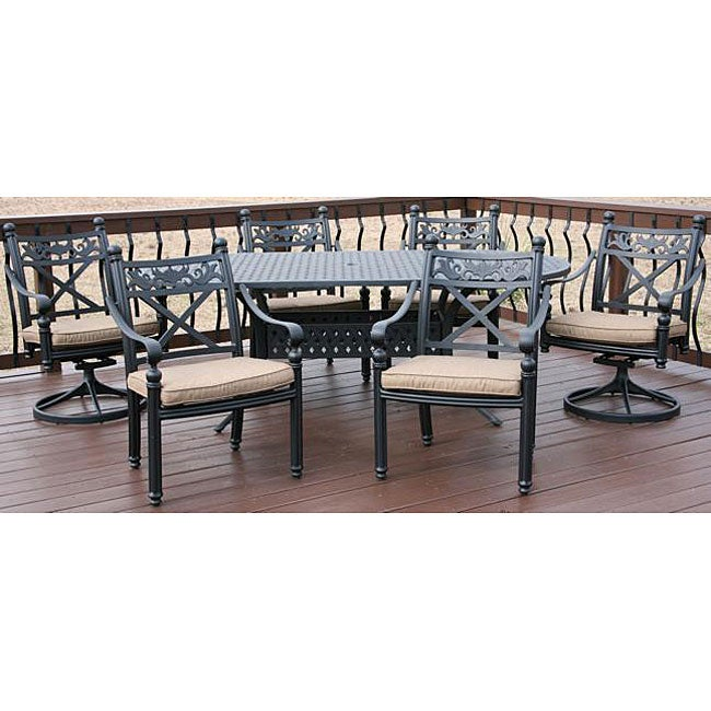Madrid 7 piece all welded patio furniture set free for Furniture madrid