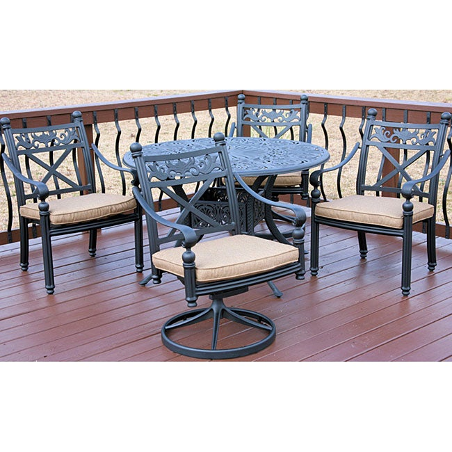 Madrid 5 piece Patio Furniture Set Free Shipping Today Overstock 12