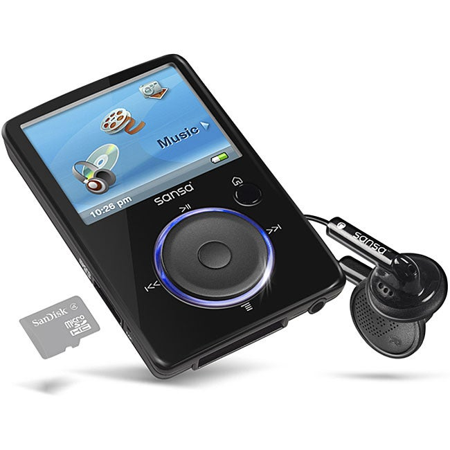 SanDisk Sansa Fuze 8GB Multimedia MP3 Player (Refurbished)