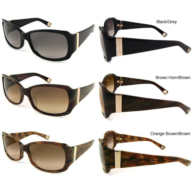 985f91e453 Shop Oscar de la Renta  S158  Women s Plastic Sunglasses - Free Shipping  Today - Overstock - 4140214