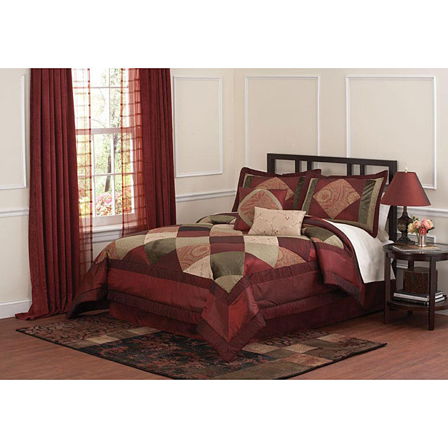 Berry Luxe Handcrafted 8-piece Comforter Set - Thumbnail 0