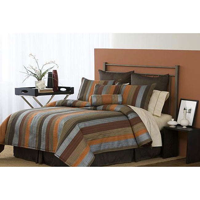 Morrocan Stripe Handcrafted 8-piece Comforter Sets