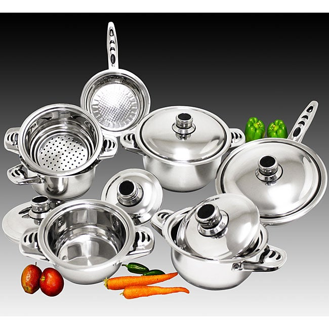 Premium 18/10 Stainless Steel 12-piece Cookware Set