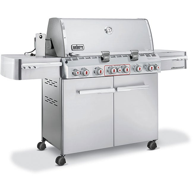 weber summit s670 stainless steel propane gas grill