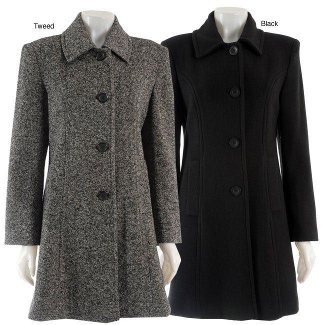 Trendz Women's Single-breasted Walker Coat