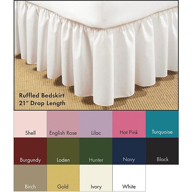 Poplin Ruffled 21-inch Drop Bedskirt