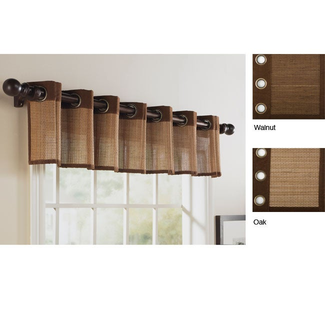 Softline Rayon from Bamboo 15-inch Grommet Top Valance