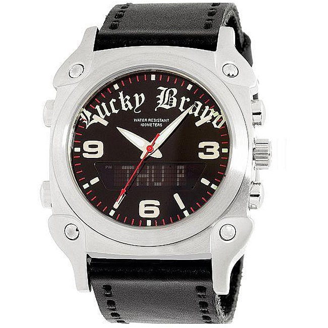 lucky brand s black leather digital free