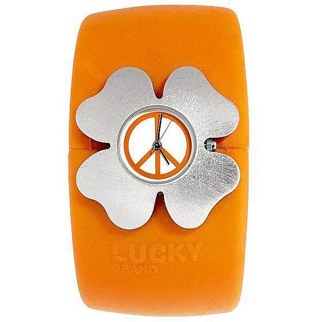 Lucky Brand Women's Orange Rubber Cuff Watch