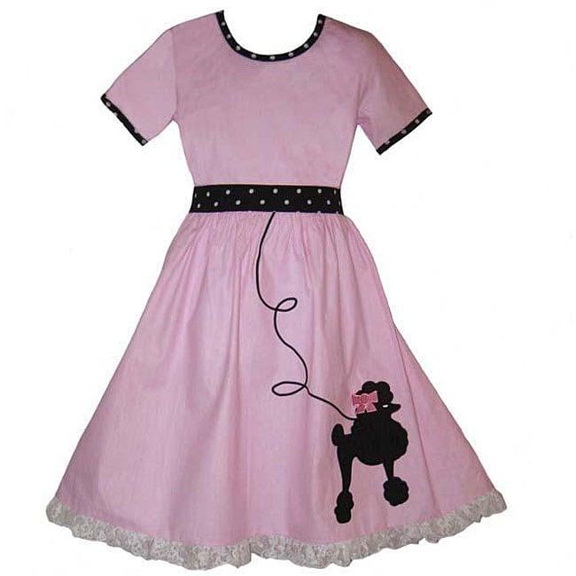 AnnLoren Boutique Girls' 50s Poodle Dress
