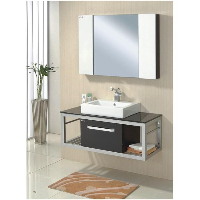 kiliv 41 inch wall mount mirrored bath vanity free