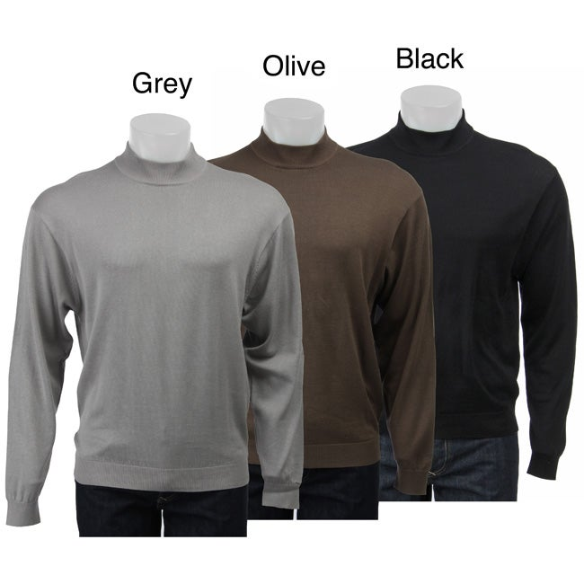 Shop Visitor Men s Silk-blend Mock Turtleneck Sweater - Free Shipping On Orders  Over  45 - Overstock - 4186366 5045a40d5