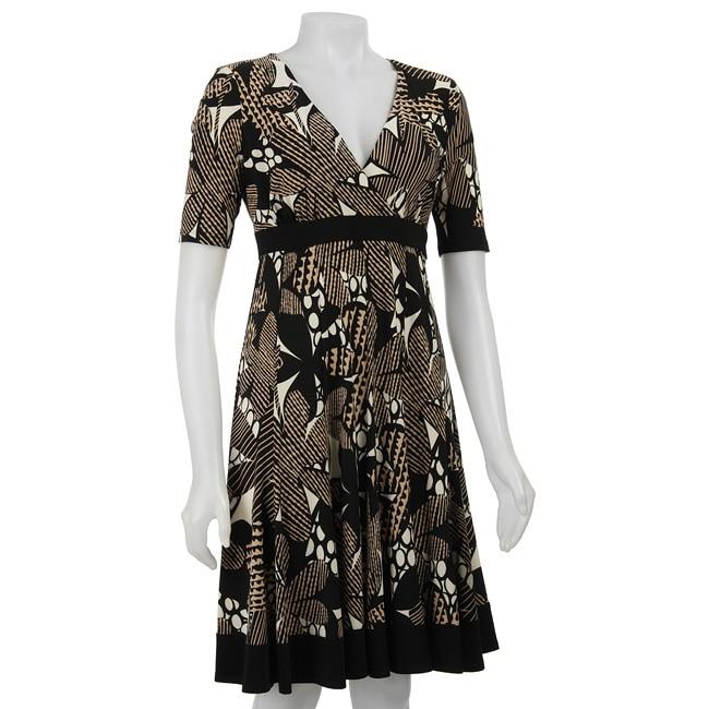 Jones New York Matte Women's Floral Collage Jersey Dress