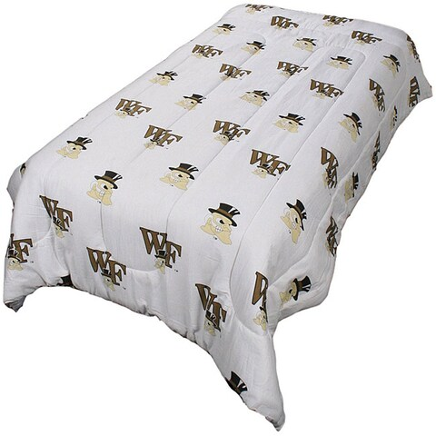 College Covers Wake Forest Queen-size White Comforter Set