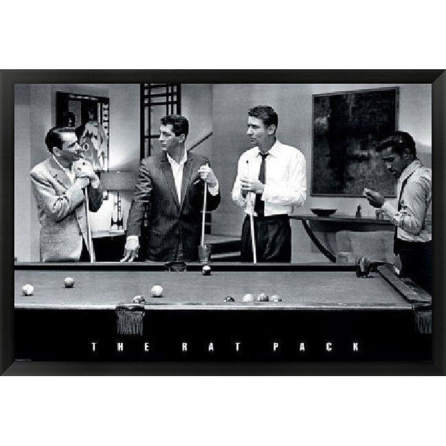 The Rat Pack Pool Framed Art