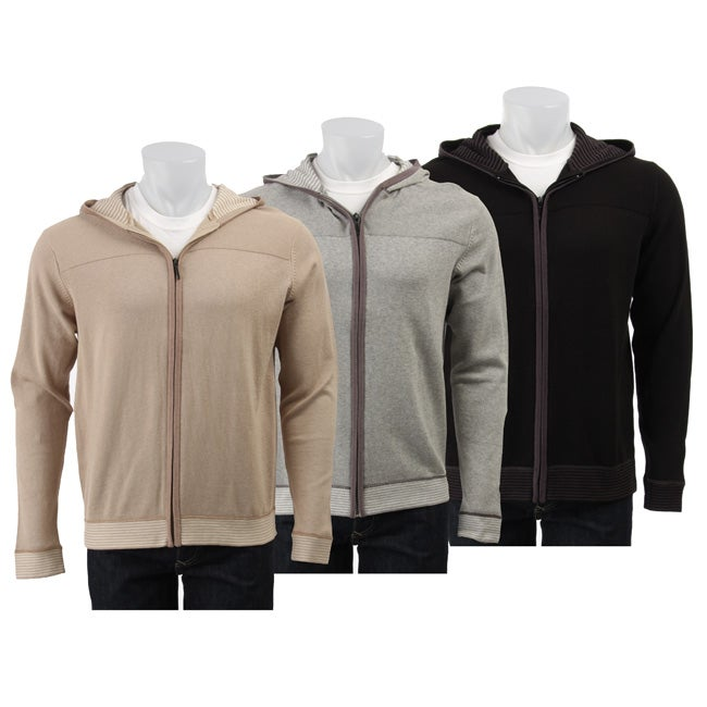 c467312afc9972 Shop Michael Brandon Men's Hooded Zip Up Sweater - Free Shipping On Orders  Over $45 - Overstock - 4188325