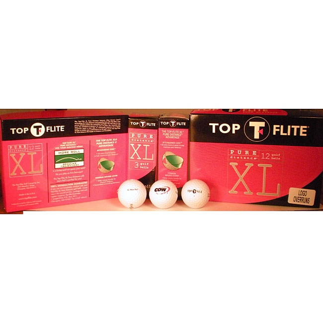 Top Flite Pure Distance Golf Balls (Box of 12)