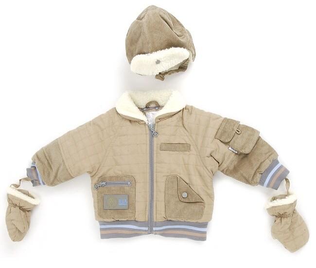 Bill Blass Boy's Khaki Corduroy Jacket w/Hat