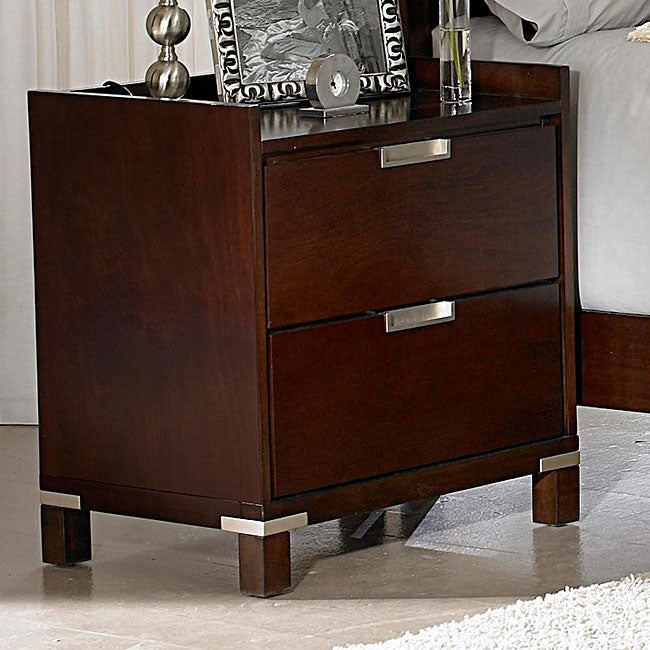 Noho Warm Cherry 2-piece Gallery Nightstand Set