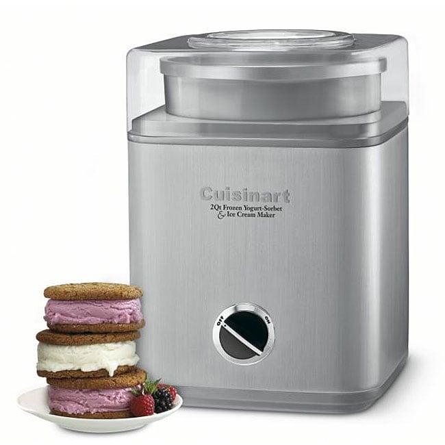 Cuisinart ICE-30BCFR Pure Indulgence 2-Quart Automatic Frozen Yogurt, Sorbet, and Ice Cream Maker (Refurbished)