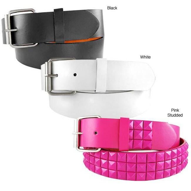 H2W Unisex Solid Color Belt