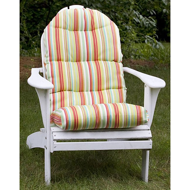 Outdoor Green Stripe Adirondack Chair Cushion