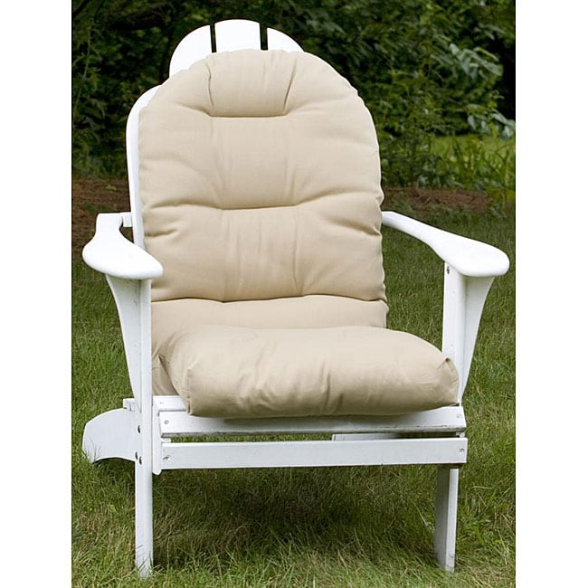 Shop Adirondack Beige Outdoor Chair Cushion Free Shipping Today