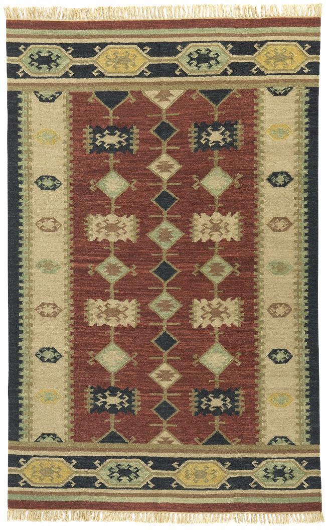 Hand-knotted Nara Vista Flat Weave Wool Rug (8' x 10')