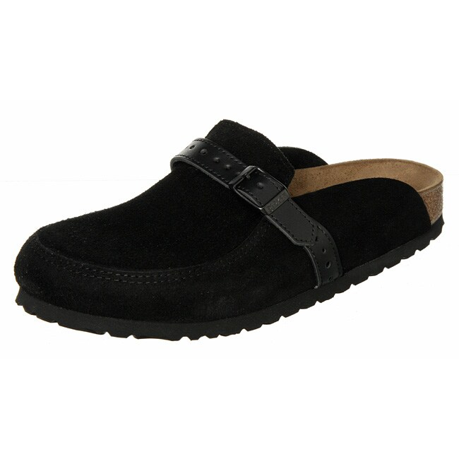fadf3164e8250 Shop Birkenstock Women's 'Eaton' Suede and Leather Slip-on Clogs - Free  Shipping Today - Overstock - 4224302