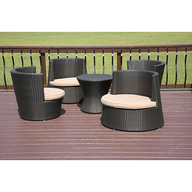 Bainbridge 5 Piece All Weather Wicker Patio Furniture