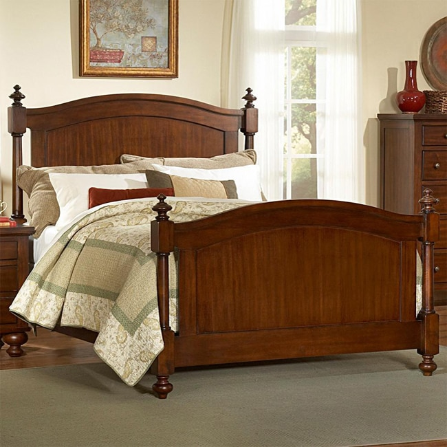 Tribecca Home Amherst Classic Warm Brown Cherry King Size Bed Free Shipping Today Overstock