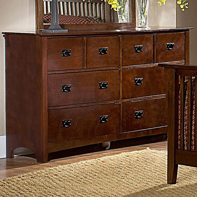 Mission Valley Traditional Cherry 6-drawer Dresser
