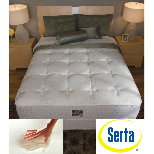 Aloe Vera Mattress Review Serta Delphina Cushion Firm Twin-size Mattress and Box Spring Set ...