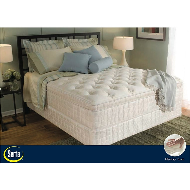 serta abercorn euro top queen size mattress and box spring set free shipping today overstock. Black Bedroom Furniture Sets. Home Design Ideas