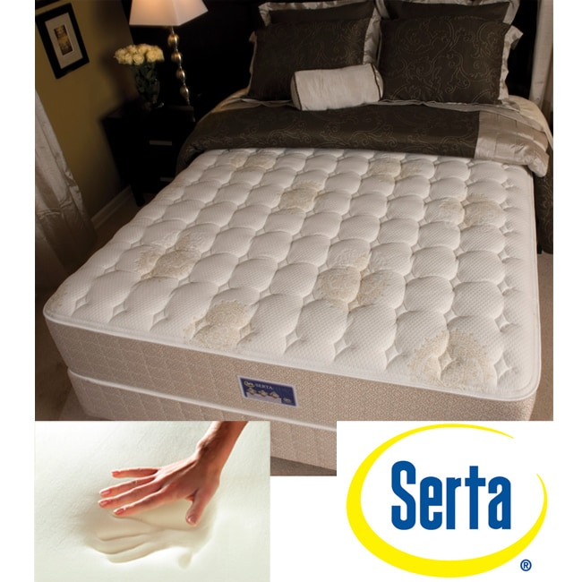 shop serta alleene firm queen size mattress and box spring set free shipping today overstock. Black Bedroom Furniture Sets. Home Design Ideas