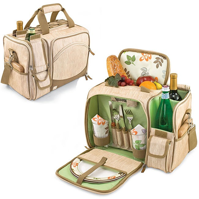 Picnic Time Malibu-Botannica Wine-n-Cheese Picnic Basket