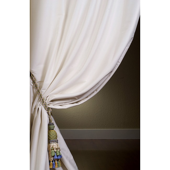 Exclusive Fabrics Signature Oyster Cotton Silk 108-inch Curtain Panel