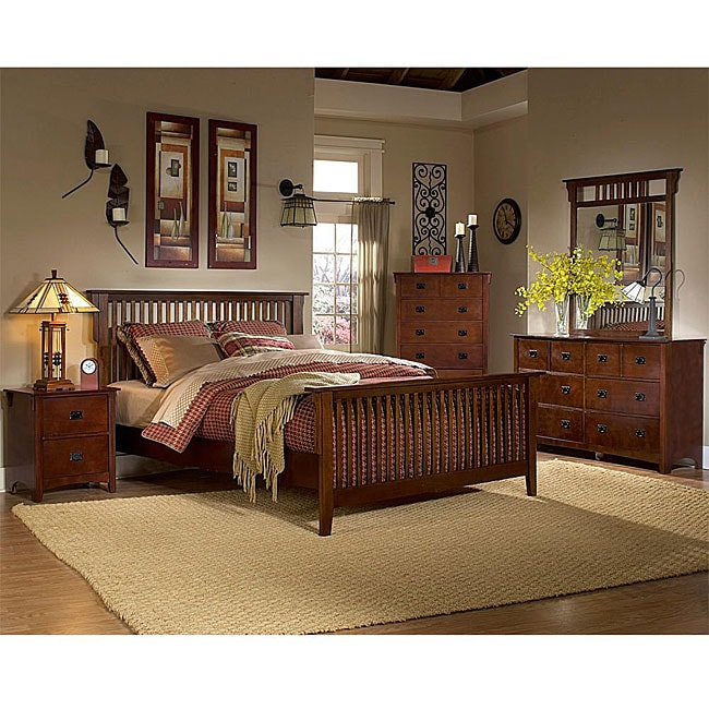 Mission Valley Traditional Cherry 5-piece Eastern King Bedroom Set