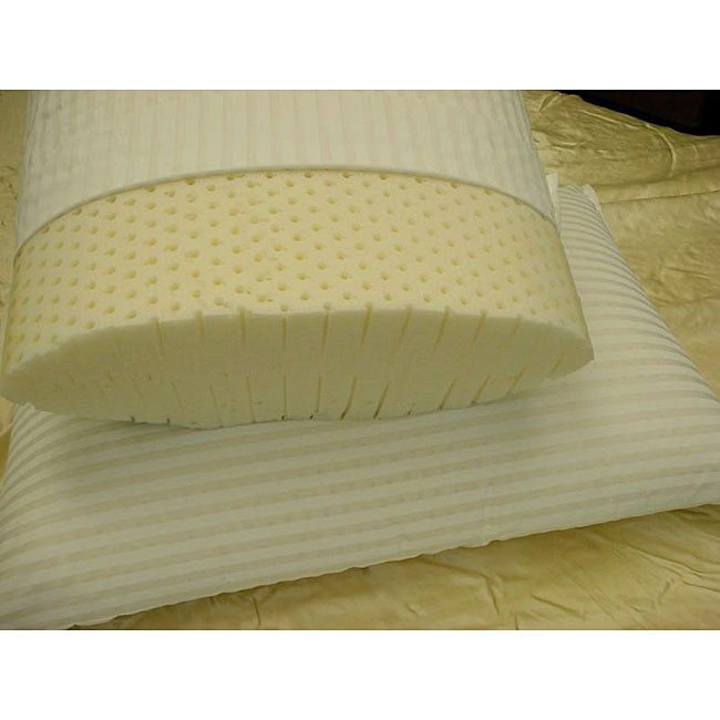 premier talalay queensize latex foam pillow set set of 2