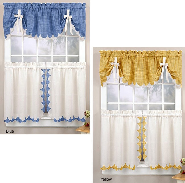Tabitha 3-piece Curtain Tier And Valance Set