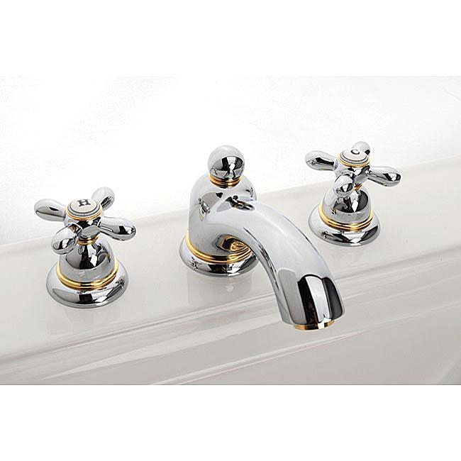 hansgrohe axor carlton widespread chrome gold accents. Black Bedroom Furniture Sets. Home Design Ideas